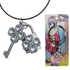 Shugo Chara Sweet Heart Key & Lock Pendant Necklace Cosplay