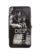 Walking Dead Daryl Dixon Black & White Ladies Hinged Fashion Wallet Very Rare