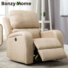Large Power Recliner Chair Air Suede Overstuffed Heavyduty Sofa Soft Comfortable