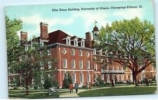 *Illini Union Building University of Illinois Champaign-Urbana Old Postcard B83