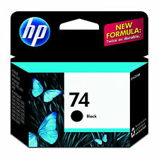 2017 RETAIL BOX Genuine HP 74 Black Ink Cartridge CB335WN NEW IN SEALED PACKAGE