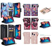 Alcatel 3V Wallet Credit Card ID Slot Case With Kick Stand Flip Phone Cover