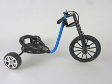 Dollhouse Miniature Blue Toy Pedal Car, EIWF589