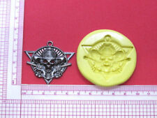 Skull with Guns Gothic Silicone Mold Cake Fondant Resin Clay Candy A973 Soap