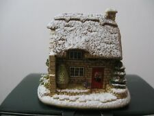 """Lilliput Lane L2875 """"CHRISTMAS CRACKER"""" MIB with deed, boxed. Snow Cottage..."""