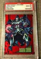 POP 1 dr doom 2099 1993 skybox marvel universe red foil avenger movie #1 PSA 10