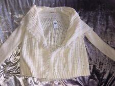 New Adults Woman's Girls Winter Hollister Cream Cardigan Long Sleeve Size UK XS
