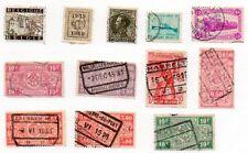 Belgium Postage Stamps Rare Lot Of 12