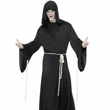 Mens Grim Reaper Costume Death Halloween Fancy Dress Adult Outfit Large