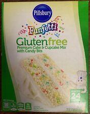 NEW PILLSBURY FUNFETTI GLUTEN FREE CAKE & CUPCAKE MIX WITH CANDY BITS 17 OZ BOX