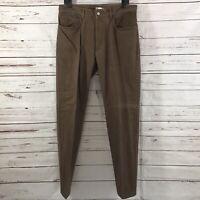 Peter Millar Men's Brown Chinos Pants Pima Cotton Flat Front Size 34 x 32