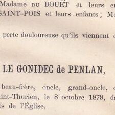 Louis Aimé Le Gonidec De Penlan Saint-Thurien Eure 1879
