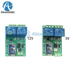 DC 5V 12V 2CH Bluetooth Relay Module Smart Home Mobile APP Remote Control Switch