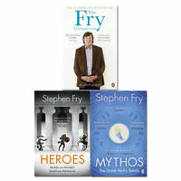 Stephen fry 3 books collection Mythos, Heroes, Fry Chronicles set pack NEW