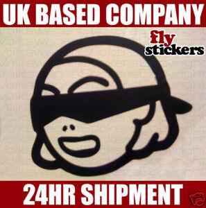 Blindfolded Hooker Sticker 100x84mm