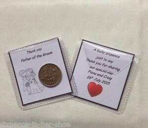 Personalised Lucky Sixpence Wedding Favour Gift - Bridesmaid, Best Man Usher etc