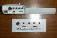 1970 DODGE CHALLENGER GAUGE FACES for 1/24 scale REVELL plastic KITS