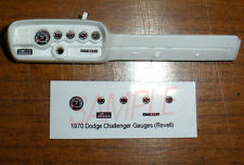 1970 DODGE CHALLENGER GAUGE FACES!! - for 1/24 scale REVELL KITS
