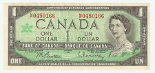 1967 CANADA $1 dollar bill SN:M/P 0450166 CIRCULATED