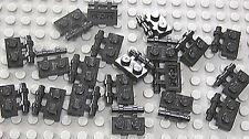 LEGO - 20 x Platte 1x2 schwarz mit Halter offen / Griff / Stange / 2540 NEUWARE