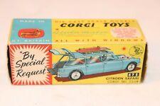 Corgi Toys 475 Citroen Safari Ski Club excellent plus all original empty box