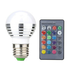 E27 16 Colors Changing 3W RGB LED Light Bulb Lamp +24 Key IR Remote Controller