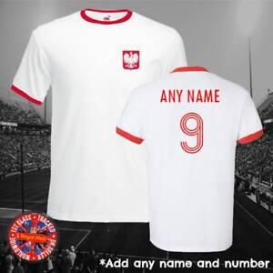Poland Polska Personalised Football Ringer T-shirt World Cup Euros Gift Soccer
