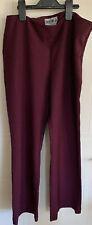 Buttercups Beauty Purple / Burgandy Trousers Size 10