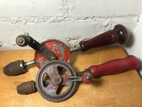 Vintage Egg Beater Hand Drills Lot of 2