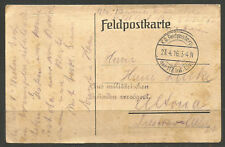 """GERMANY. WW1. 1916. CARD. FIELD POST CARD. DELAYED FOR MILITARY REASONS - """"AUS M"""