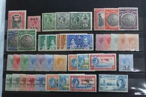 BAHAMAS Fresh MINT Hinged Collection of 65 Stamps KGV to early QEII Vals to 10s