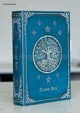 Dream Box 'Book' Beautiful Blue-Green Mystical Secret Hidden Stash Box