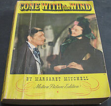 Antique - Gone With The Wind Motion Picture Edition By Mitchell 1939 - Scarce