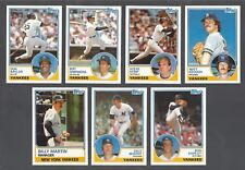 New York Yankees 1983 Topps Traded team set - Billy Martin, Baylor, Campaneris +