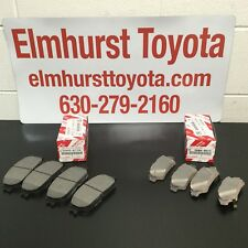 GENUINE Toyota Sienna 04-10 Front & Rear Brake Pad Set Kit OE OEM