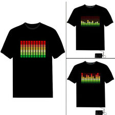 Creative LED Flashing Sound Activated Audio Control T-Shirt Night Club Wear