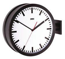 Balance Black Double-Sided Train Station Wall Clock 38cm