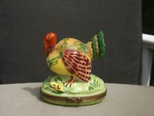 Tiffany & Co. Turkey Trinket Box Limoges France Mint Condition