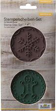 Birkmann 2 x Stempelscheiben-Set Schneeflocke- Gingerman für Keksstempel