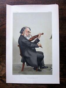 1905 Spy Cartoon Caricature Joseph Joachim Violin Musician Vanity Fair Antique