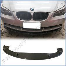 Fit BMW 04-10 E60 E61 535i 550i Standard Bumper HM Style Carbon Fiber Front Lip