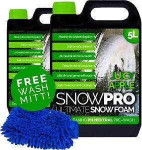 Snow Foam Shampoo Car Care Wash 10L Vehicle Wax Soap Detailing Kit pH Neutral
