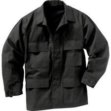 US Army Black Night Camo BDU 4 pocket Shirt Jacket Uniform size Medium XL