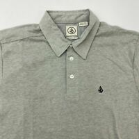NWT Volcom Polo Shirt Men's Small Short Sleeve Gray Cotton Blend Casual
