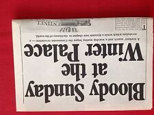 m2j ephemera 1970s article bloody Sunday at the winter palace Russia revolution