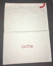 Arche Shoe Storage Pouch, Dust Cover, Red Drawstring.  Cream Color Bag .