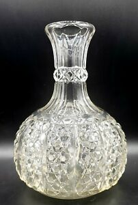 George Duncan's Sons No.44 Button Panel Clear Glass Water Bottle c.1900