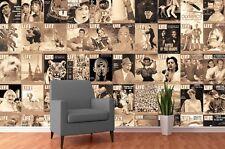 Creative Collage-Life Magazine Sepia-Wallpaper 64 pieza (Inc Pegar)