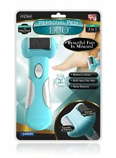 Personal Pedi Duo - Powerful Electric Foot File and Callus Remover - Turquoise