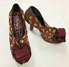 Irregular Choice Mutiny Ladies Shoes With Burgundy Bow Size 41